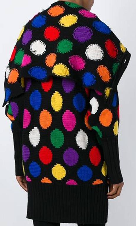 Black JC de Castelbajac Polka Dot Cardigan For Sale