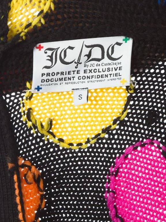 Women's JC de Castelbajac Polka Dot Cardigan For Sale