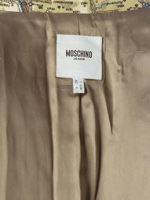 Moschino Cotton Map Blazer  In Excellent Condition For Sale In Paris, FR