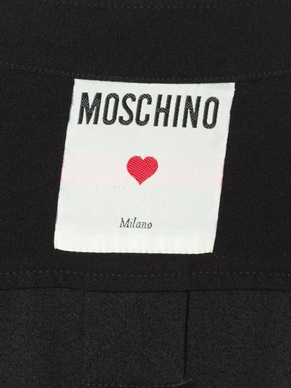 Women's Moschino Black Wool Oversized Shirt Dress For Sale