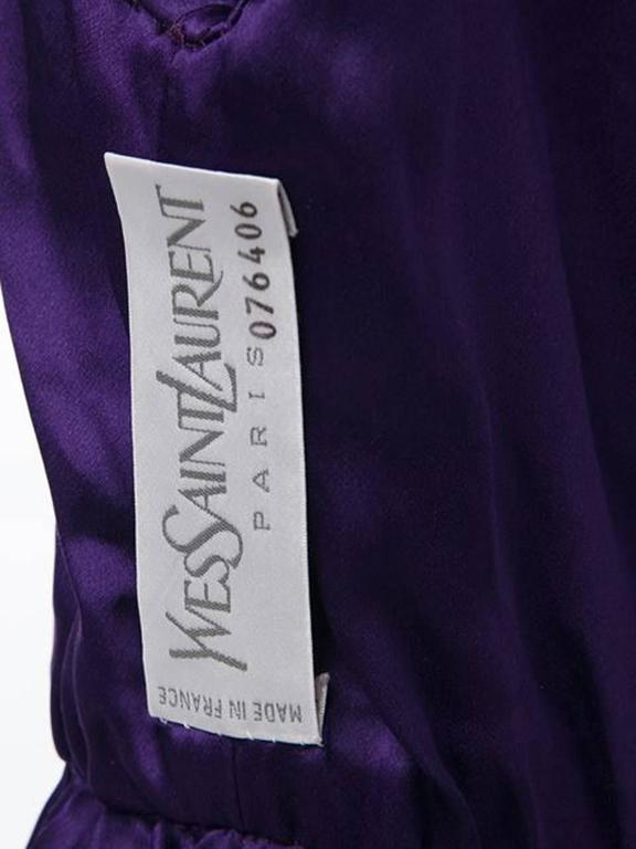 Couture Saint Laurent Purple Wool Dress  3