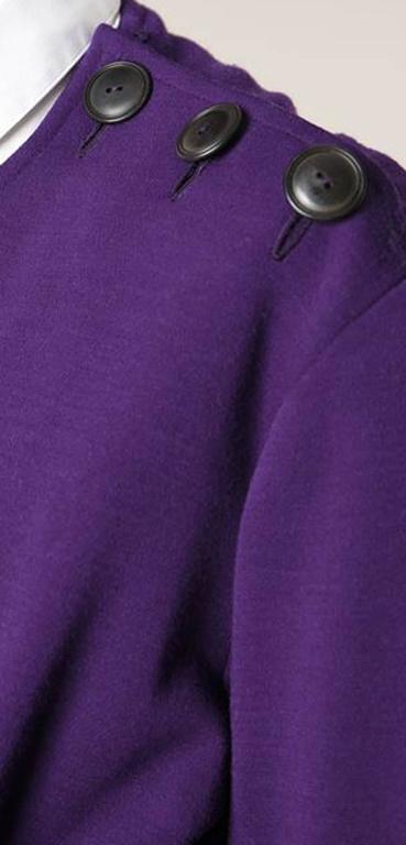 Couture Saint Laurent Purple Wool Dress  4