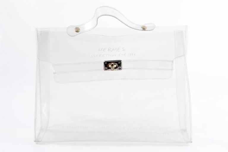 1996s Collector Hermes Transparent Plastic Bag-Shaped Kelly 2