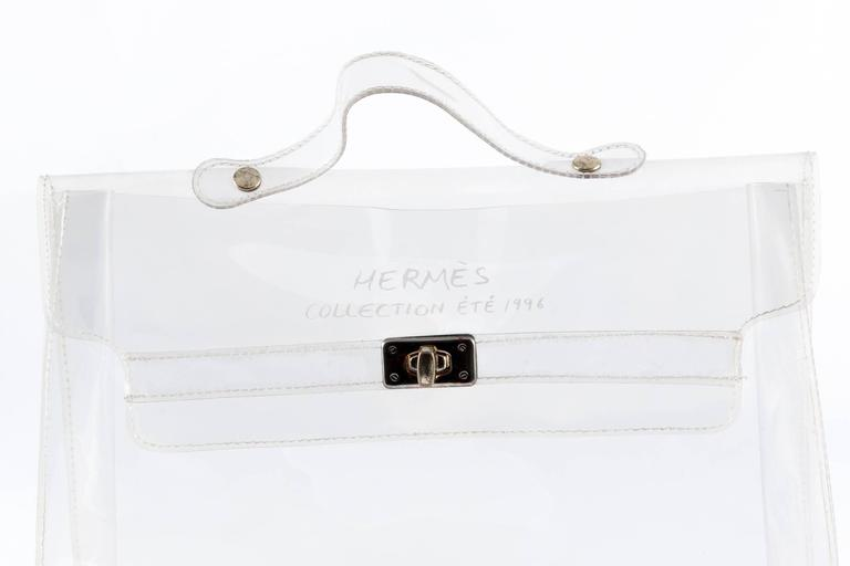 1996s Collector Hermes Transparent Plastic Bag-Shaped Kelly 4