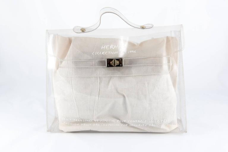 1996s Collector Hermes Transparent Plastic Bag-Shaped Kelly 5