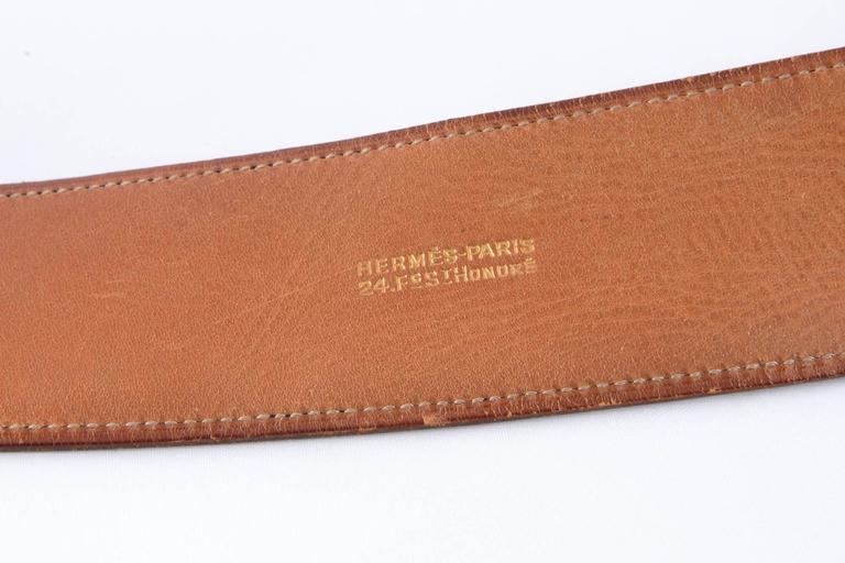 Women's  Black Boxcalf Leather Hermes Belt For Sale