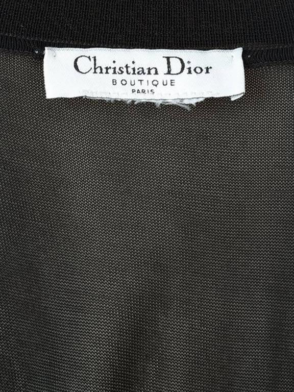 Christian Dior Black Evening Embellished Top 4