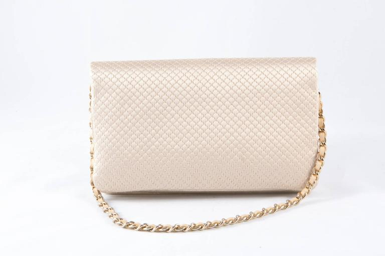 Evening Chanel Satin Quilted Clutch In New Never_worn Condition For Sale In Paris, FR