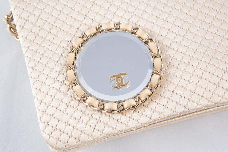 Evening Chanel Satin Quilted Clutch 6
