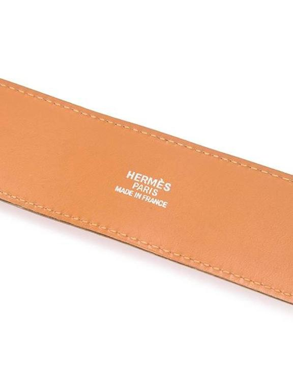Gorgeous Hermes Orange Calfskin Leather Collier de Chien Medor Belt 75cm 3