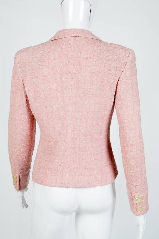 Pink Tweed Valentino Jacket For Sale At 1stdibs