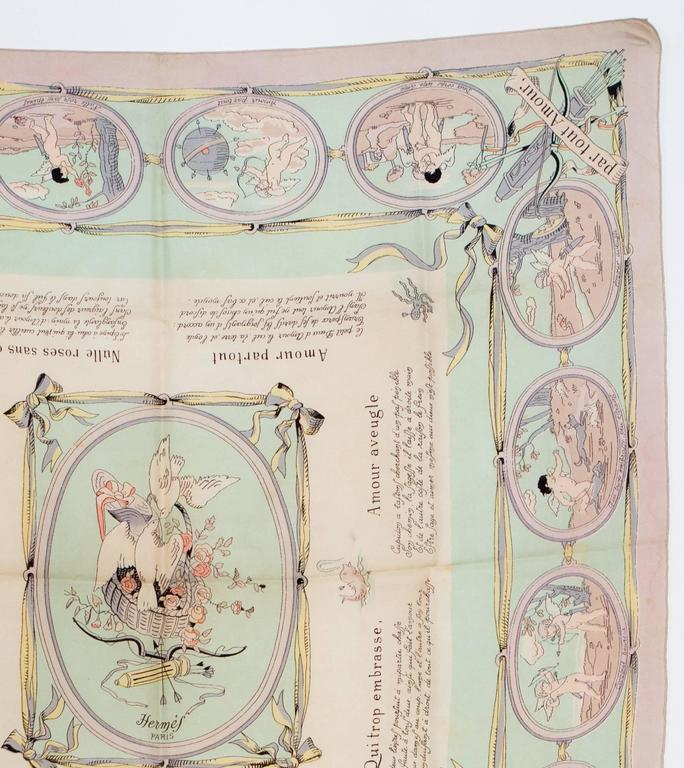 1947s  Les Amours Hermes Silk Scarf 3