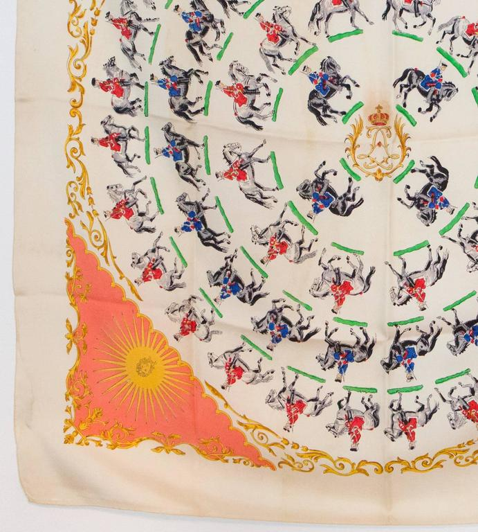 1930s Rare Hermes Silk Scarf For Sale 1
