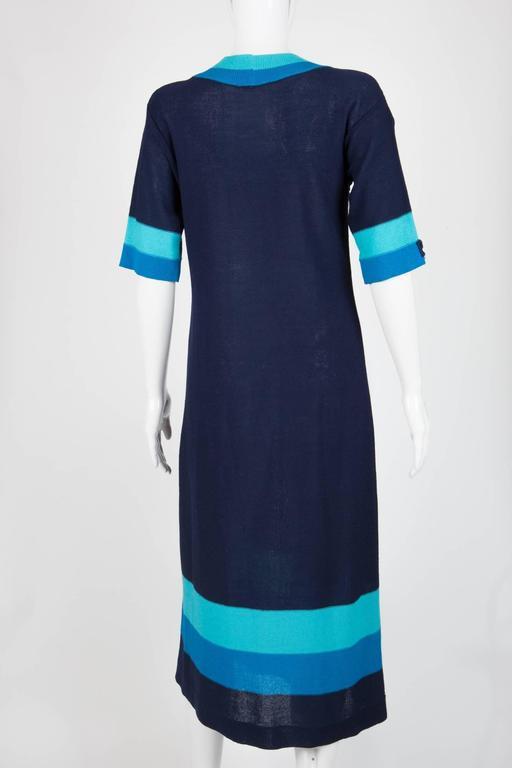 Blue Pierre Cardin Dress For Sale at 1stdibs