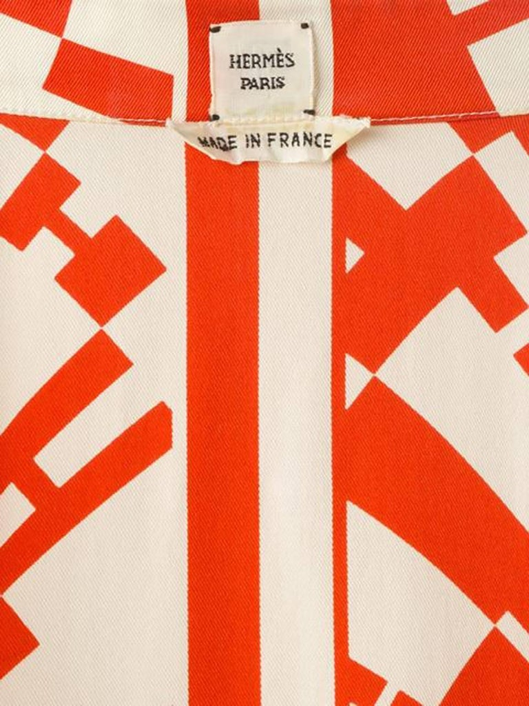Red Hermes H Logo Print Shirt 5