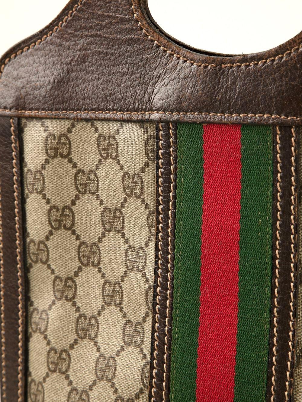 Black 1970s Gucci Tote Bag
