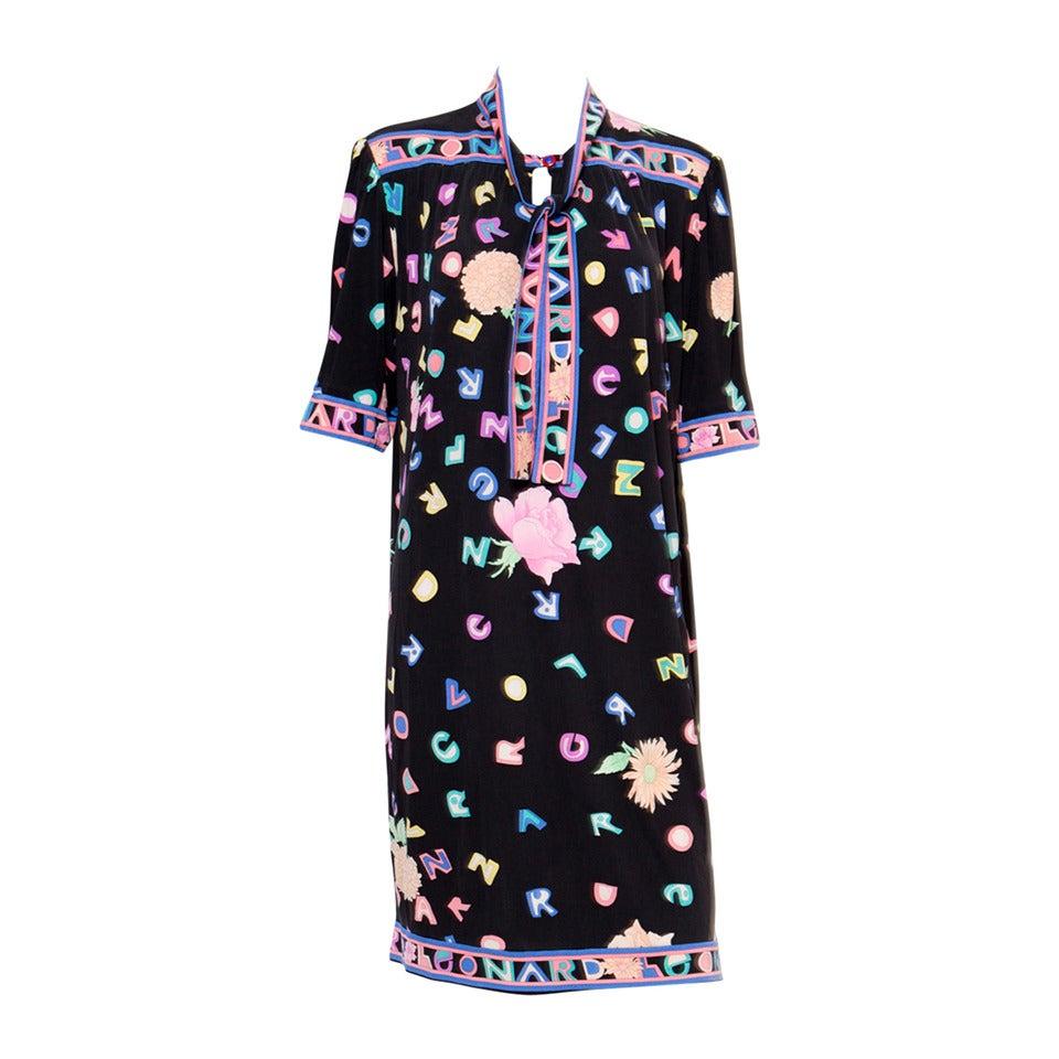 1970s Multico Leonard Silk Dress