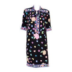 1970s Multico Leonard Silk Dress