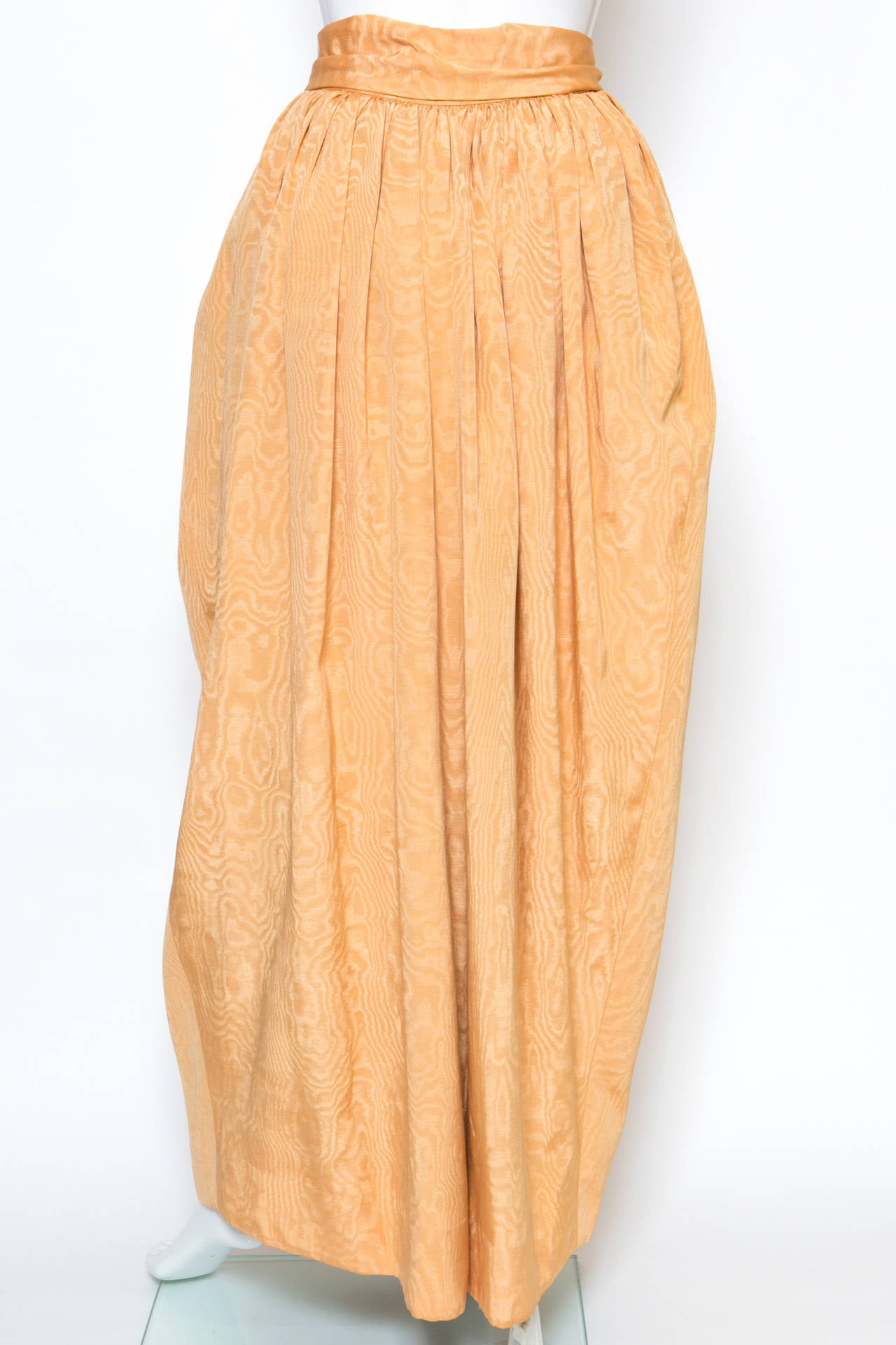Women's 1970s Saint-Laurent Evening Maxi Long Silk Skirt For Sale