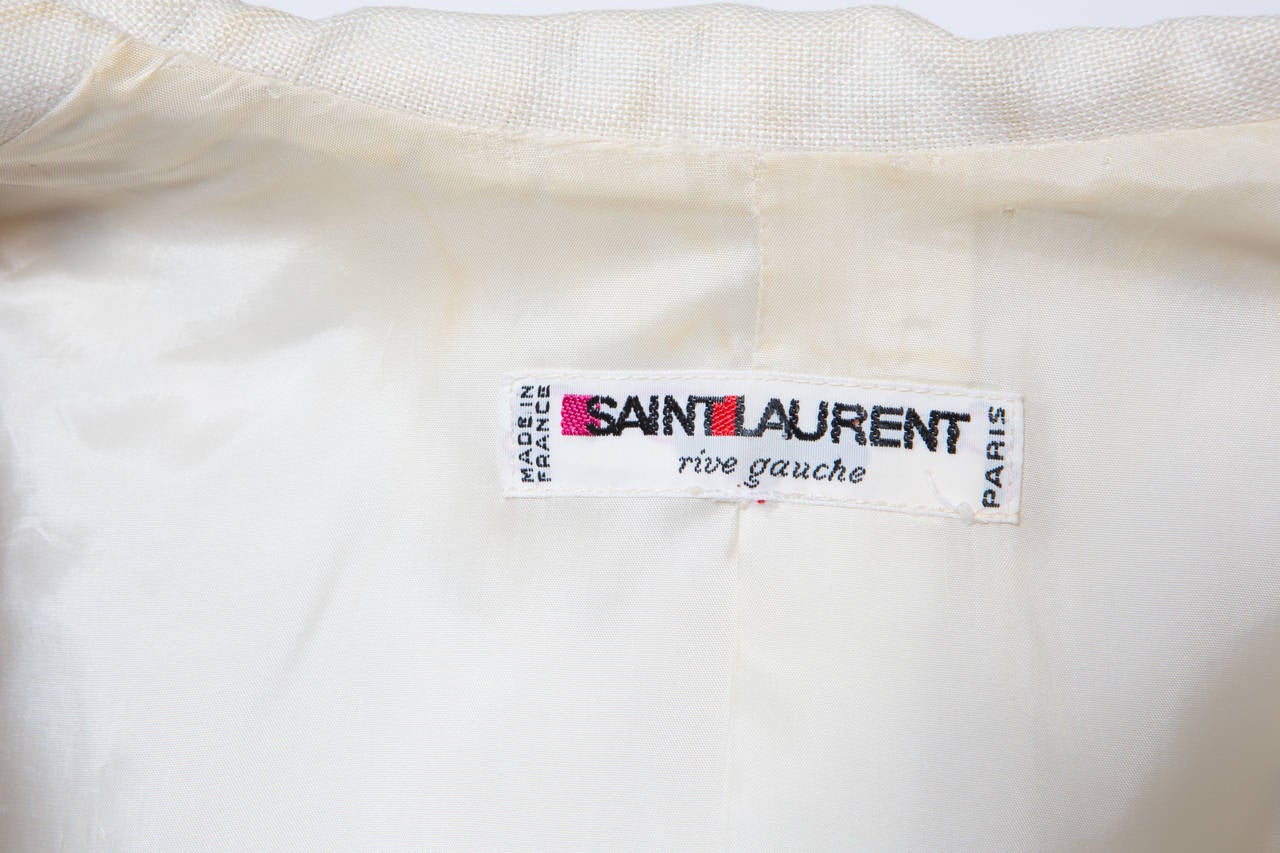 1980s Yves Saint Laurent Black and White Jacket For Sale 1