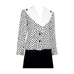 1980s Yves Saint Laurent Black and White Jacket