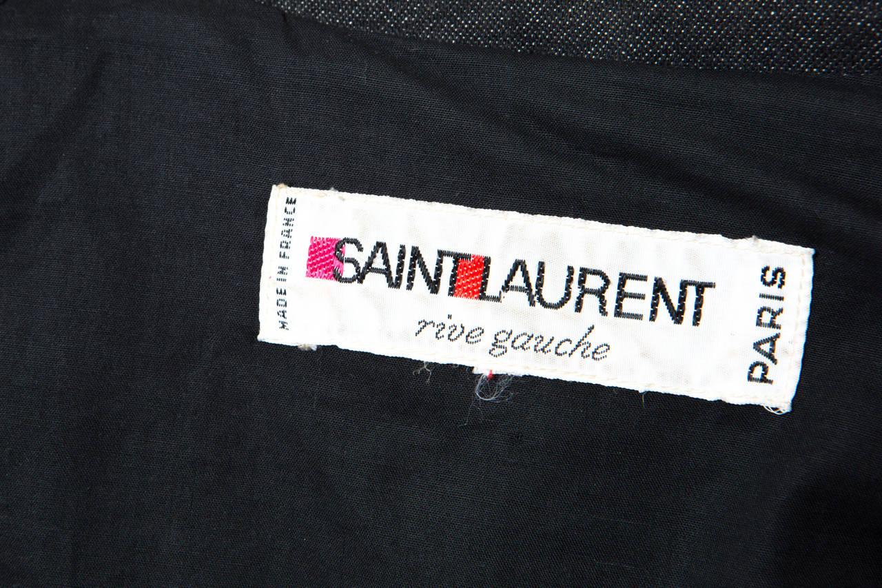 1980s Gorgeous Yves Saint Laurent Black Denim Trench 9
