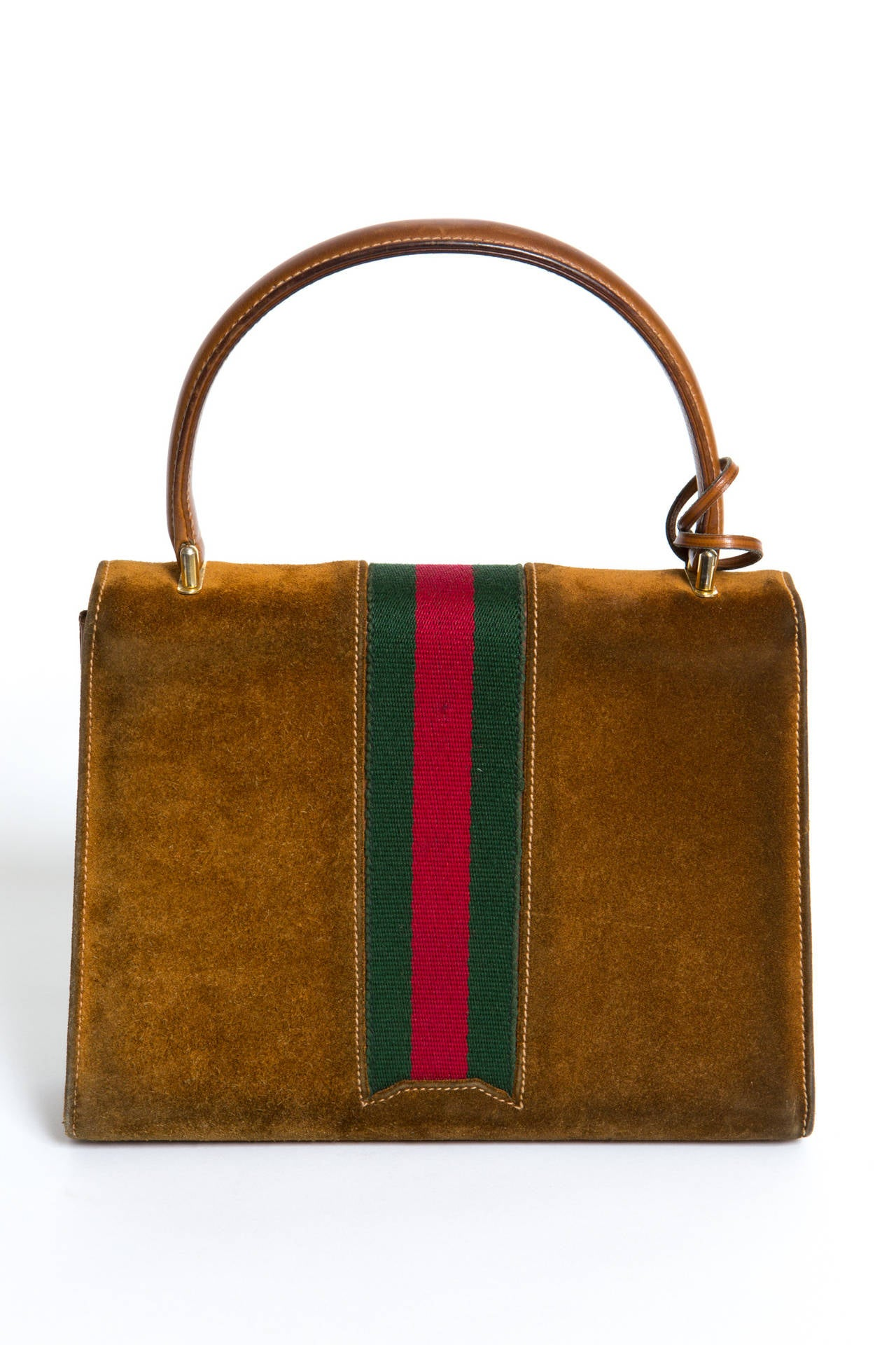 1970s Rare Gucci Camel Bag In Good Condition For Sale In Paris, FR