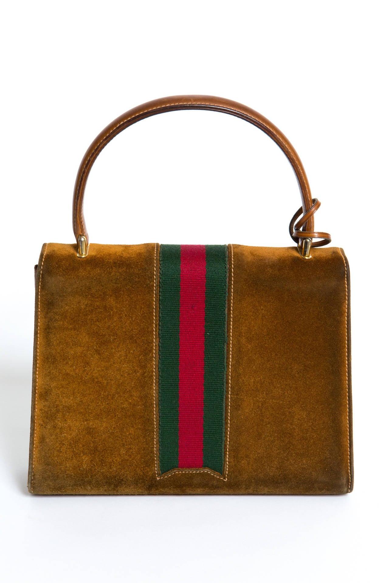 1970s Rare Gucci Camel Bag 3