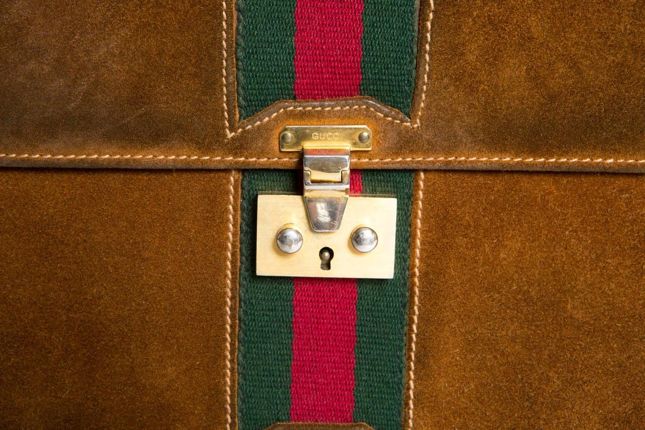 1970s Rare Gucci Camel Bag 4