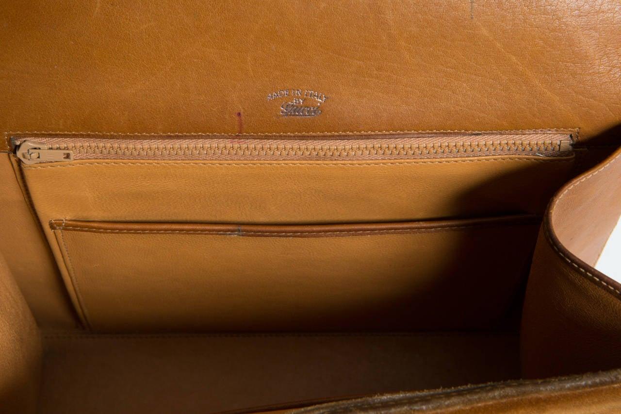 1970s Rare Gucci Camel Bag For Sale 2