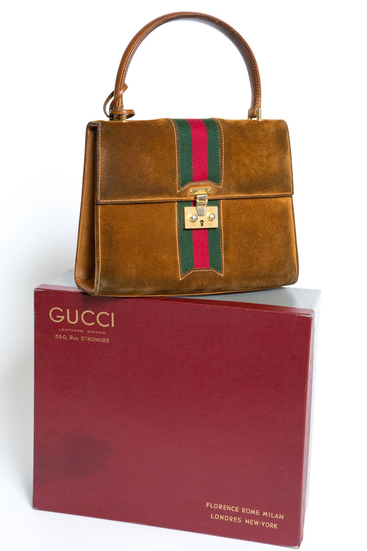 1970s Rare Gucci Camel Bag For Sale 1