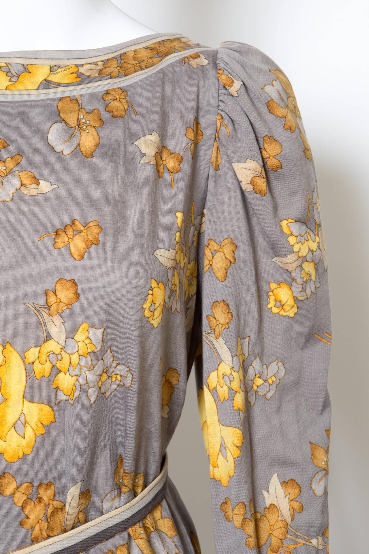 Women's 1970s Leonard Printed Dress For Sale