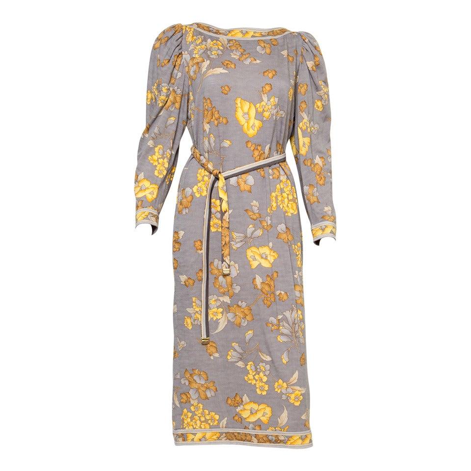 1970s Leonard Printed Dress For Sale