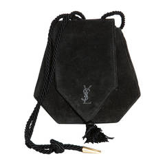 Yves Saint Laurent Russian Collection 1976 Black Shoulder Purse