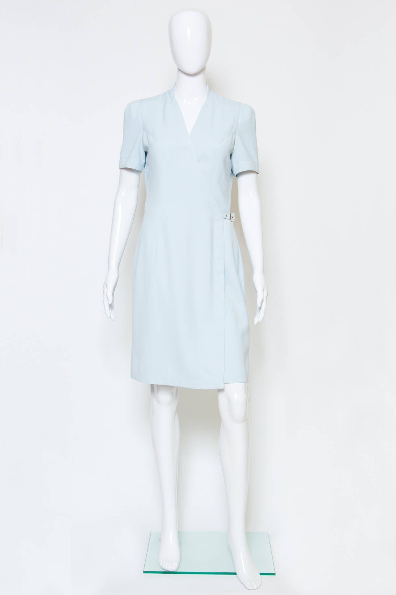 1990's Light blue  Thierry Mugler Dress 2