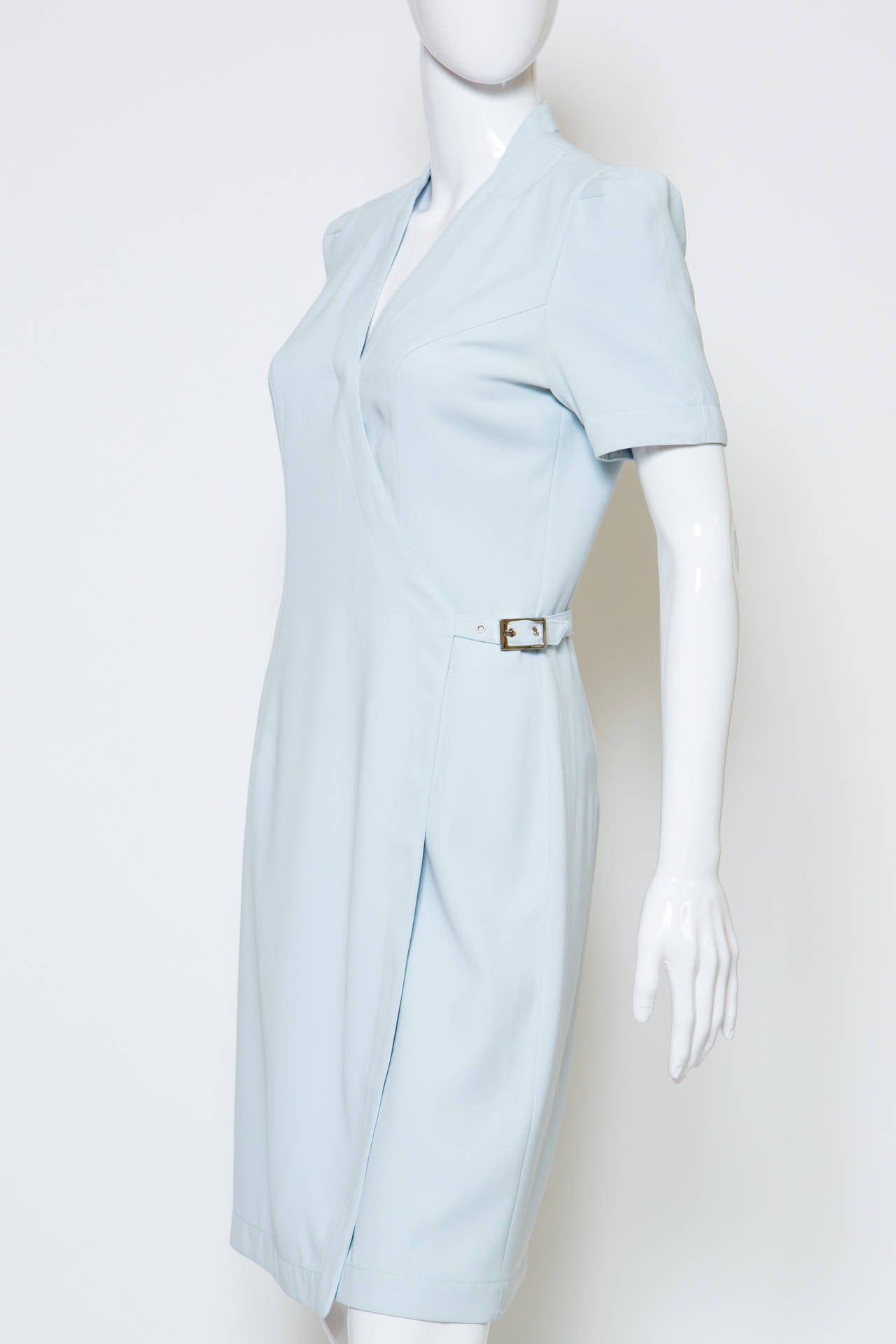 1990's Light blue  Thierry Mugler Dress 3