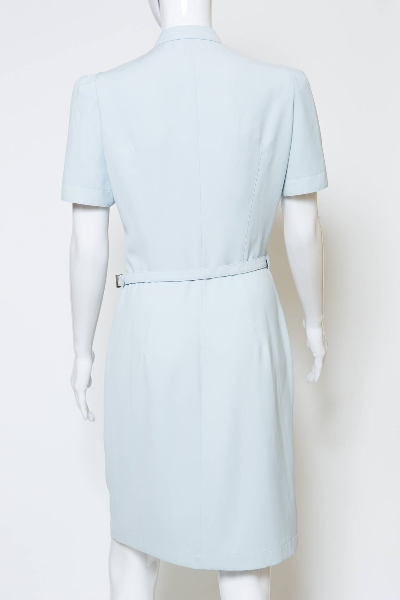 1990's Light blue  Thierry Mugler Dress 4