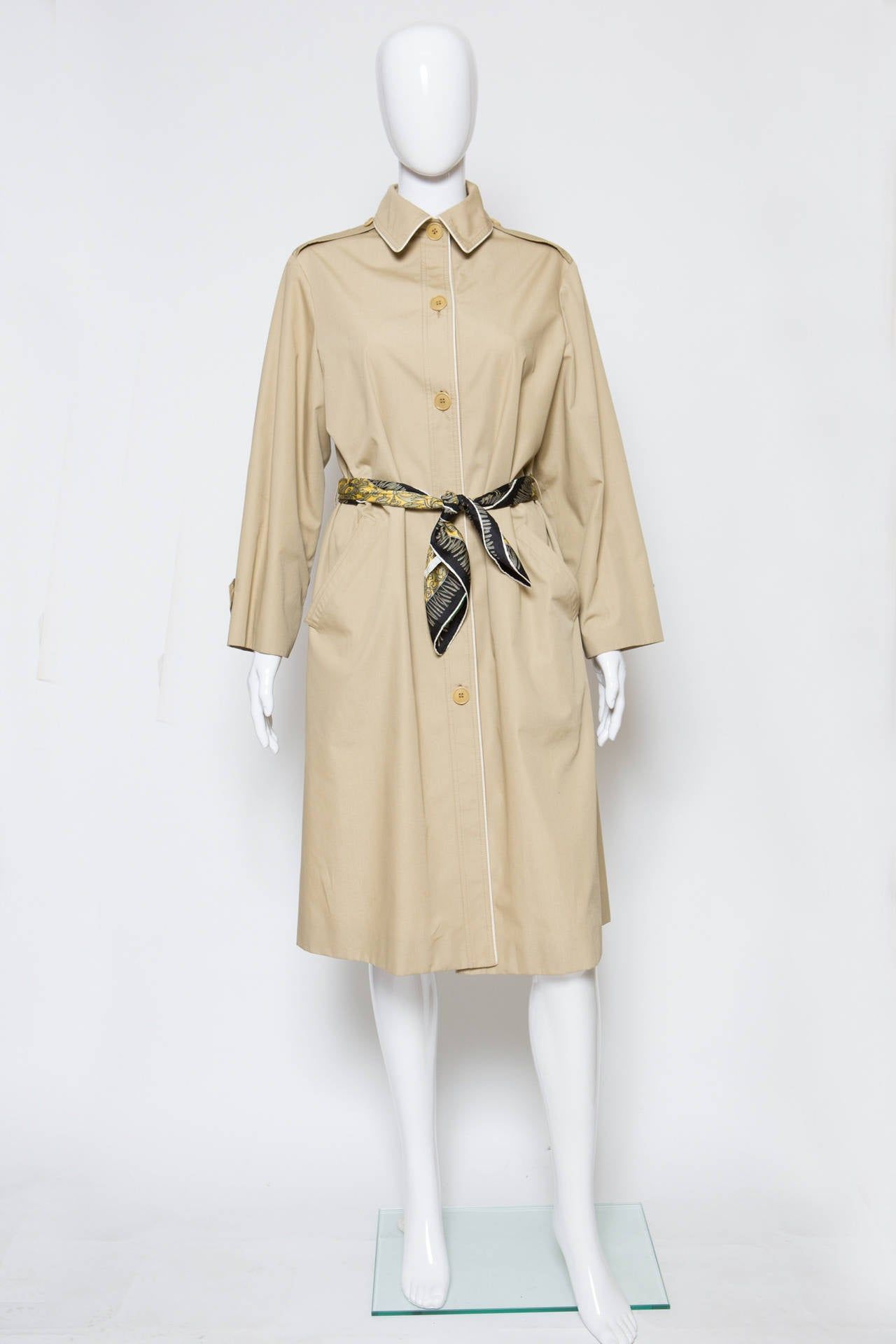 1975s Celine Camel Trench-Coat 2