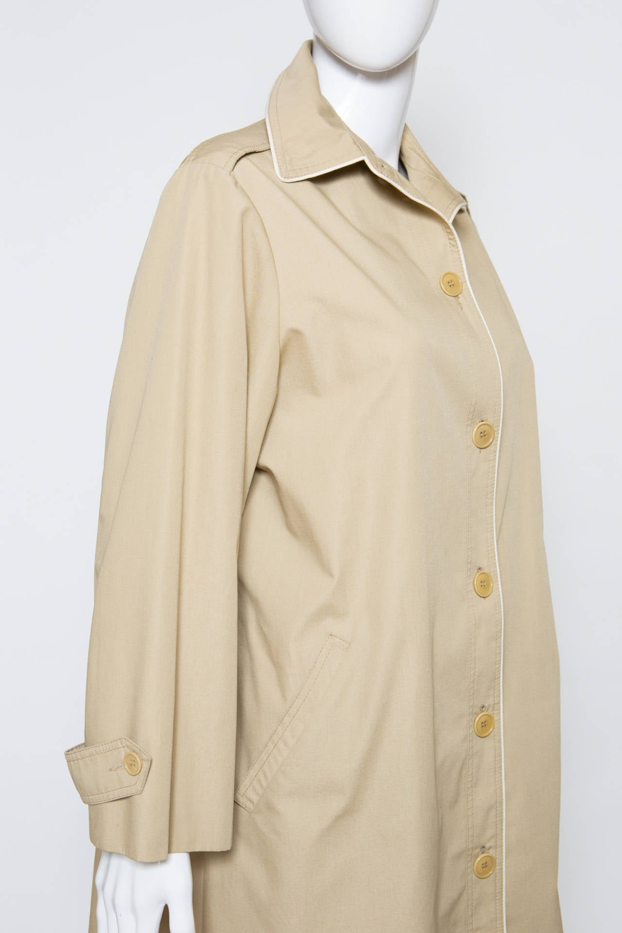 1975s Celine Camel Trench-Coat 4