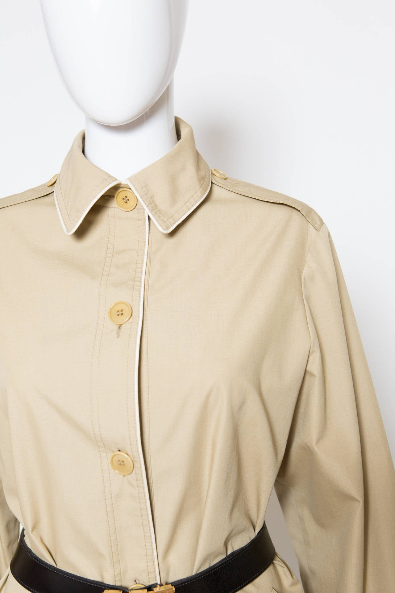 1975s Celine Camel Trench-Coat 7