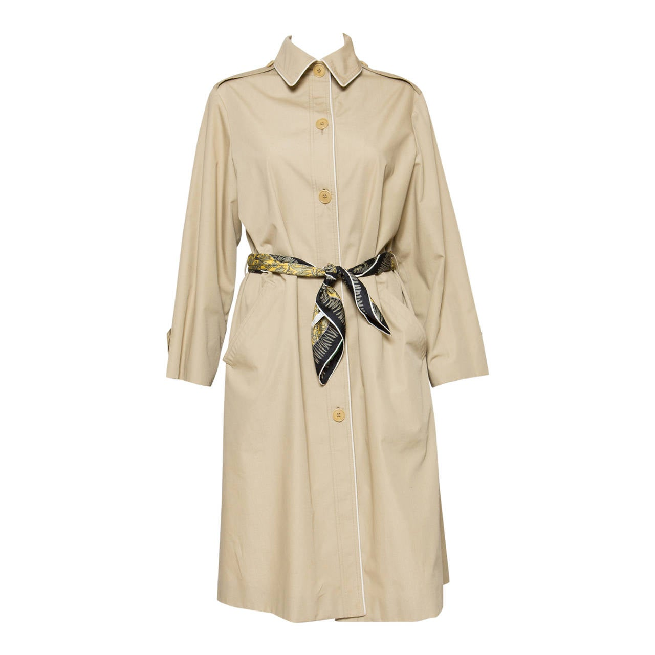 1975s Celine Camel Trench-Coat 1