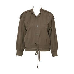 1983s  Yves Saint Laurent Khaki Jacket Museum Piece