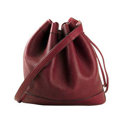 1990s Red Hermes Market Bucket Bag