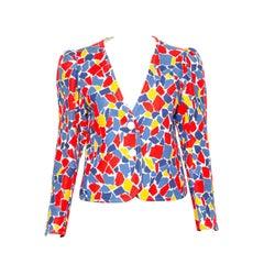 1982s Yves Saint Laurent Printed Jacket