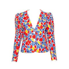 1982s Yves Saint Laurent Printed Jacket