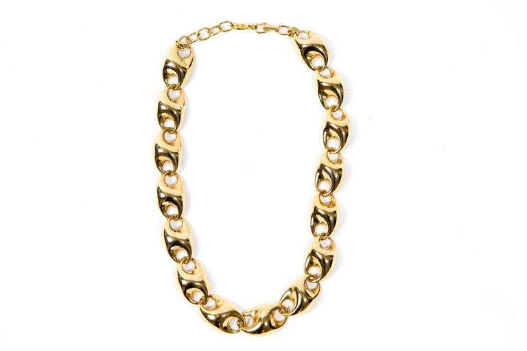 Women's Christian Dior Gold Tone Necklace For Sale