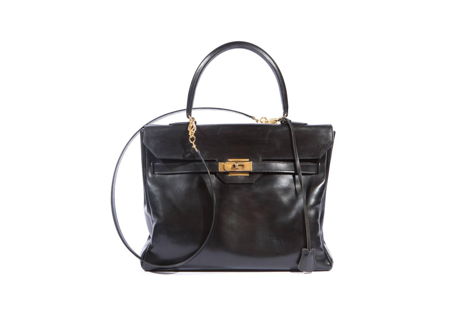 sacs hermes paris - Gorgeous Hermes Black Boxcalf Monaco Bag at 1stdibs