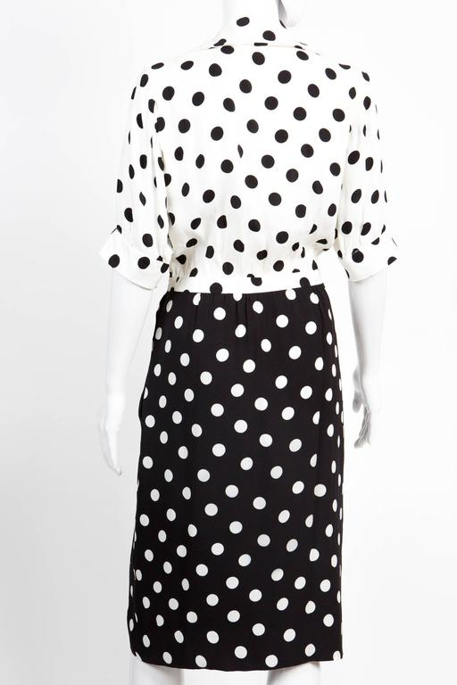 1986s Saint Laurent Dot Print Dress 4