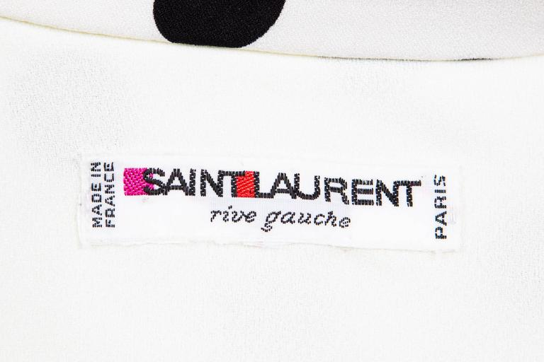 1986s Saint Laurent Dot Print Dress 5