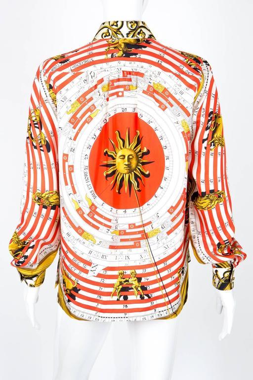 1984s Hermes Dies et Hores Silk Shirt   4